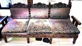 Wooden sofa set( sagwaan wood) 3+1+1