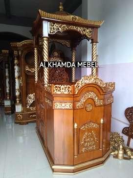 Ready Mimbar Masjid Material Kayu Jati Berkualitas @521