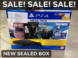 PS4 New Slim 1 TB mega pack - Sealed box with Bill & warranty - DTzone