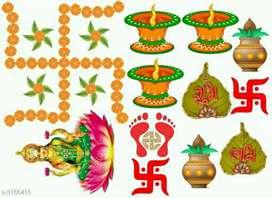 Diwali wall stickers of Laxmi ji and Ganesh ji