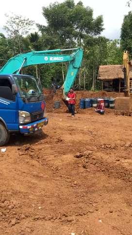 Tanah stripping pengurugan land clearing becko cut and fill excavator