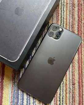 IPhone 11 Pro Max 256Gb Space Grey Elegant Fullset No Minus Muluss