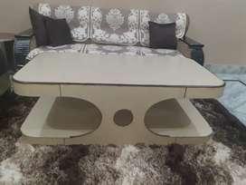 Cream colour wooden table