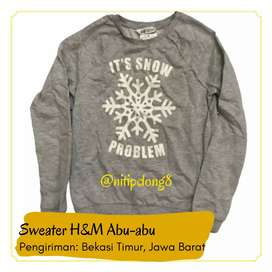 Sweater H&M Abu-abu baju anak-anak