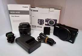 Kamera Mirrorless Canon Eos M100 24.2Mp 15-45mm Kit