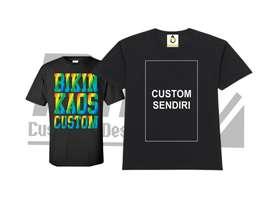 Kaos Bebas Custom (BISA COD) SATUAN/LUSINAN