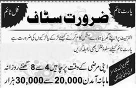 Jobs for males&Females (no age limit)