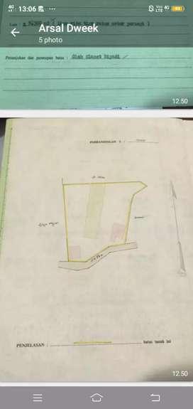 Tanah di jual permeter Rp 650.000,00 nego
