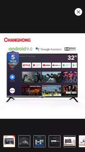 CHANGHONG  ANDROID SMART TV 32 IN BARU & SEGEL DOS GARANSI 5 TAHUN