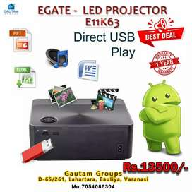 E gate projector android with speaker 1year warranty  fix price