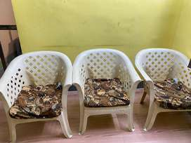 Neelkamal Sofa chair with Cushion 3 pcs
