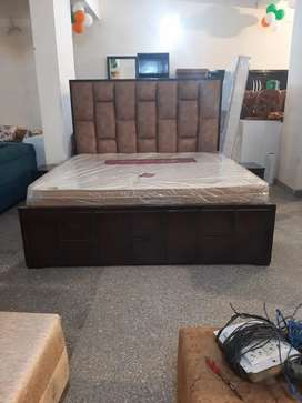 Double bed latest design with side table