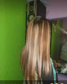 Warna rambut/mewarnai rambut warna nyata tanpa blaching