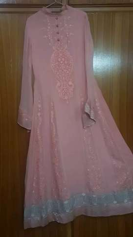 TeaPink Gulkari Embroidered Dress