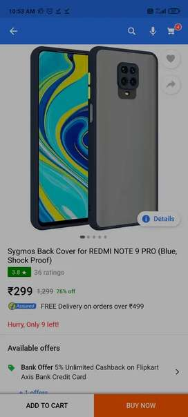 Redmi note 9 pro/ pro max/ POCO M2 pro two smoke back covers