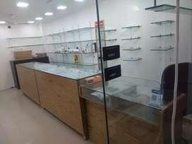 Shop furtuners,counter & self glasses