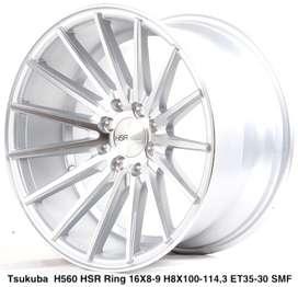Velg murahnya TSUKUBA 560 HSR R16X8/9 H8X100-114,3 ET35/30 SMF