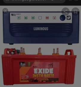 Luminous Inverter With Exide Battery
