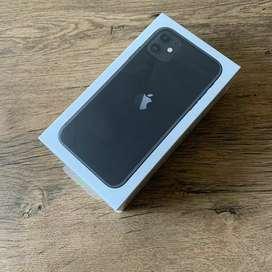 Iphone 11 128gb new 1 tahun  .