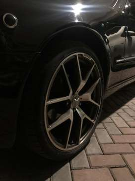 Mercedes AMG rims 20 inch Staggered Continental tires.