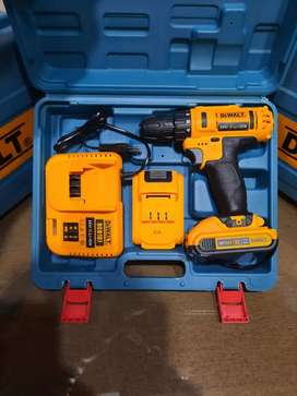 DeWalt cordless drill 24v 2 batteries excellent working brand new pack