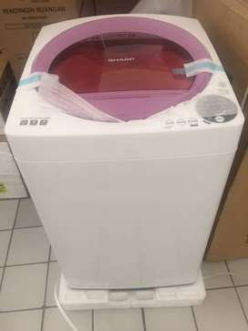 Sharp TopLoading with Display MegaMouth Series Mesin Cuci 8KG ES-M805P