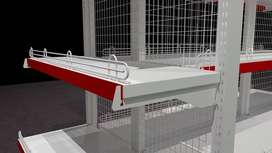 Rak Gondola/ Rak Toko/ Rak Minimarket 1 Sisi EKONOMIS NEW