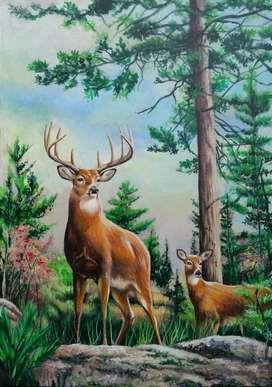 Lukisan hewan lukisan pemandangan