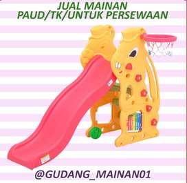 Mainan Playground Indoor Kulintang, Perosotan dan Ring Basket Murah