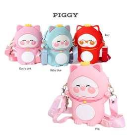 Idolabags - Slingbag Anak Bahan Jelly Karakter Piggy Lucu Tas Bahu