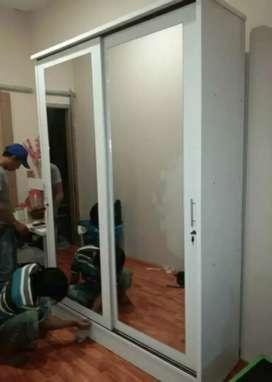 lemari sleding 2 pintu minimalis BA