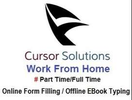 Online Form Filling and Offline eBook Typing Data Entry Work At Home