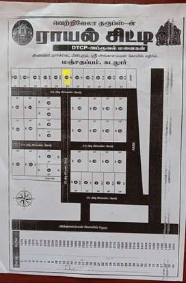 Plot @ Royal City Gardens, Cement Road, Gated Community in Manjakuppam