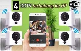 Paket 4 CCTV Kamera online Full HD xiaomi xiaofang smart ip wifi