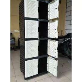 Gratis ongkir bjm - Lemari plastik 8 pintu / 4 rak dalam minimalis
