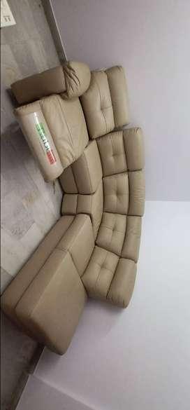 Italian sofa with recliner