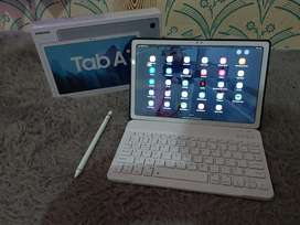 Samsung galaxy tab A7, 2020, RAM 3/32, satu set keyboard dan s pen