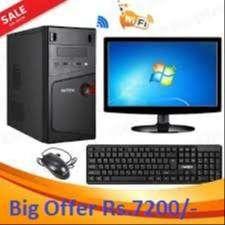 NEW COMPUTER SET WIN7/2GB RAM/160GB HDD ONLY 7200/- WARRNTY 1 YEAR