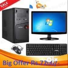 NEW COMPUTER SET WIN7/2GB RAM/160GB HDD ONLY 7200/- WARRNTY 1 YEAR 0