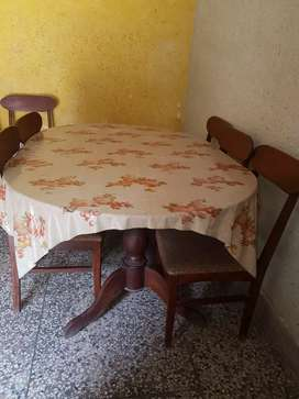 Dinning table with 6 chair solid wodden