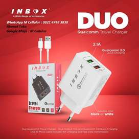 INBOX QUALCOMM 3.0A + 2.1A FAST TRAVEL CHARGER Google Maps : M Cellula