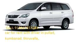 car taxi service in kumbanad,car with driver in pullad