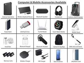 Computer Accessories Harddrive, USB, Speaker, Keyboard, Routers, Bags