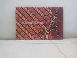 Buku tamu atau buku daftar hadir motif sampul batik