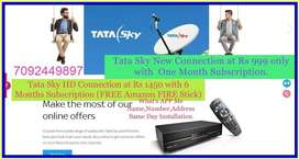 """Mega Offer's """" TATA SKY"""" 6 Month Subscription Free for Rs 1450 Only"""