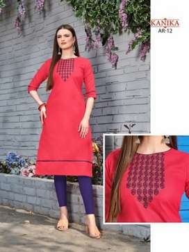 Embroidery Kurti Only