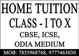 Home tuition All subjects