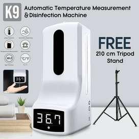 Murah -Thermometer automatic Non contact K9 + sensor tangan + Tripod