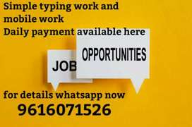 Daily payment basis Mobile work