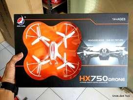 Mainan Anak - RC Helicopter Drone HX750 - 6 Ch Remote Control Drone